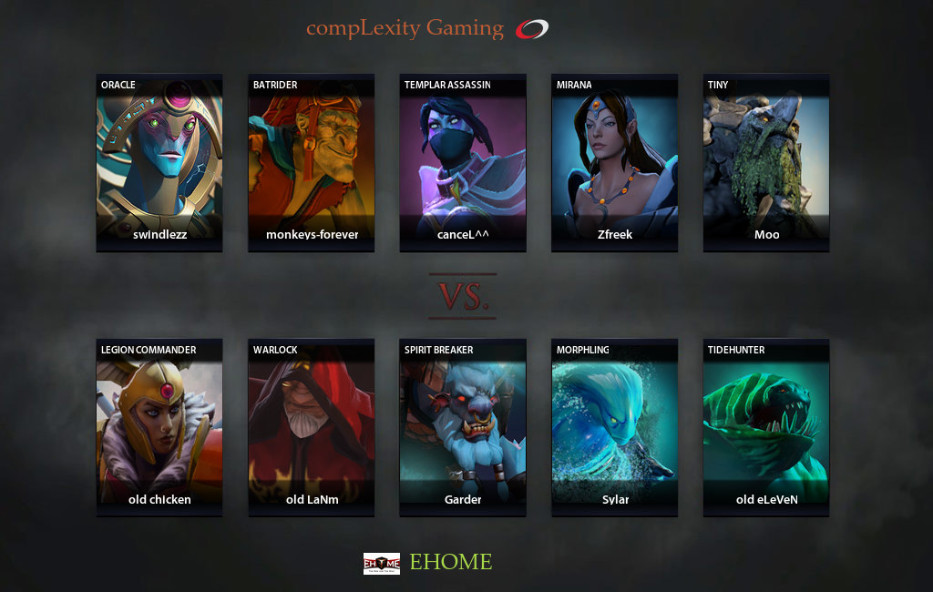 Show result for gameStatistics and Match Results матча EHOME vs compLexity, NA Arena Beat Invitational, game 1 [Lex, 4ce]Dota 2 RuHub 3096 coL vs EHOME #1 ...