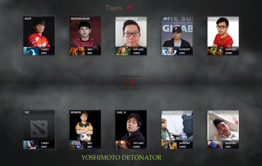 Tigers vs DeToNator  Match 17 10 2018 on King's Cup 2