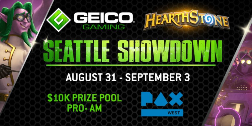 Geico Hearthstone Showdown PAX West